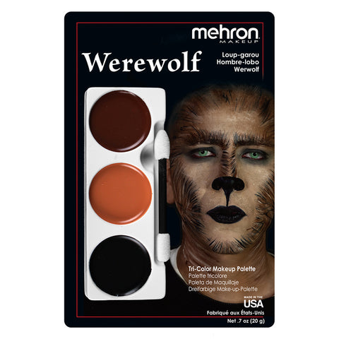 Werewolf Tri Color Makeup Kit by Mehron