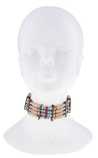 Choker or Bracelet Beads & Leather