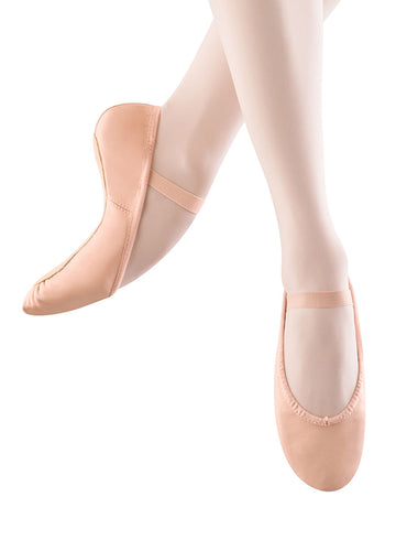 Dansoft Ballet Full Sole Leather by Bloch (Child, Pink)