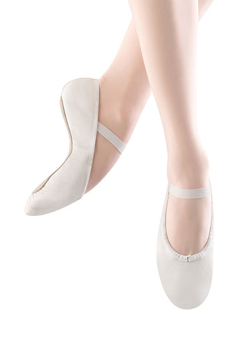 Dansoft Ballet Full Sole Leather by Bloch (Adult, White)