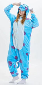 Big Blue Sullen Monster Onesie