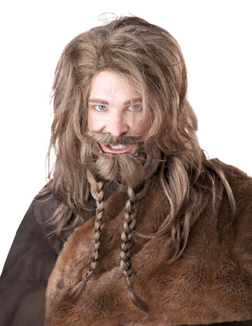 Viking Wig with Beard & Moustache