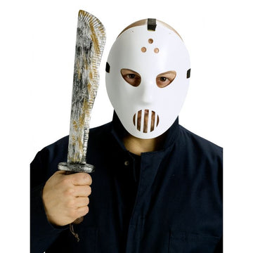 Hockey Mask & Machete Set