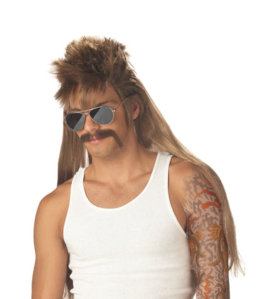 Mississippi Mud Flap Moustache & Wig