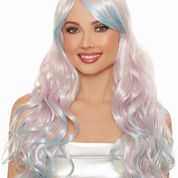 Long Wavy Pastel Ombre Layered Wig