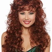 Long Curly Wig Auburn