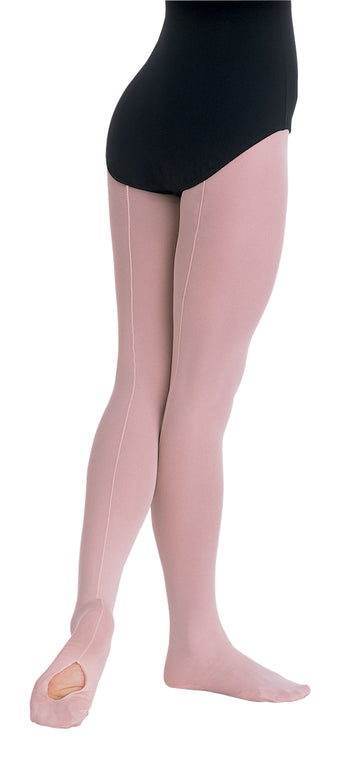 Professional Mesh Backseam Convertible Tights by Body Wrappers (Child)