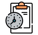 Clipboard with clock icon