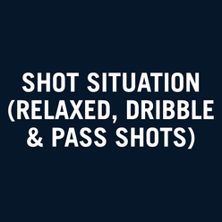 Shot situation (relaxed, dribble and pass shots)