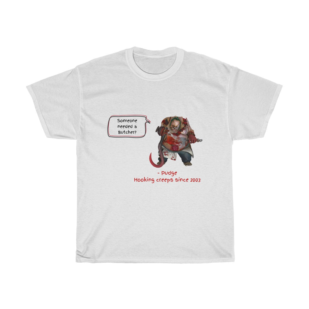 Tee-shirt 'Hooking Creeps' - Pudge - White Edition