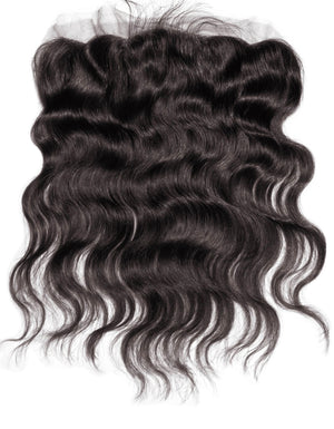 Raw Indian Wavy Frontal 13x4 - Transparent Lace