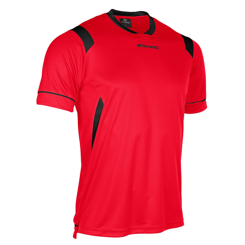 Stanno Arezzo SS Football Shirt (Red/Black)