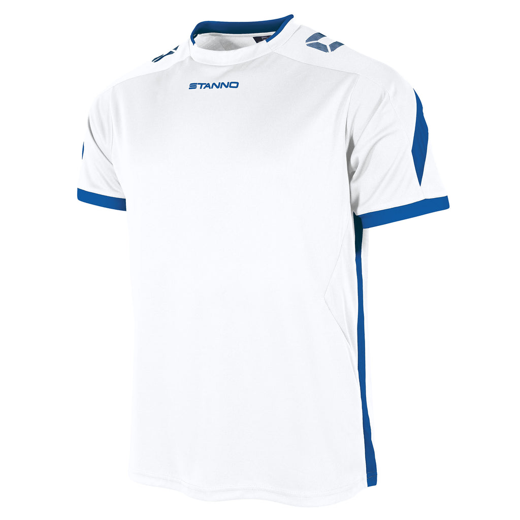 Stanno Drive SS Football Shirt (White/Royal)