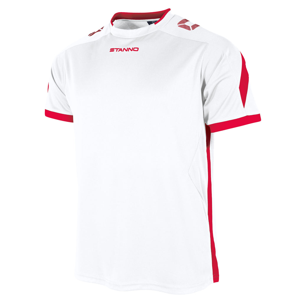 Stanno Drive SS Football Shirt (White/Red)