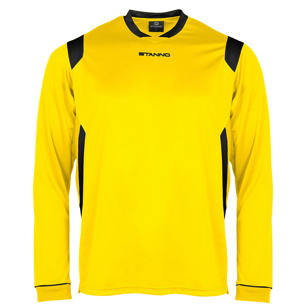 Stanno Arezzo LS Football Shirt (Yellow/Black)
