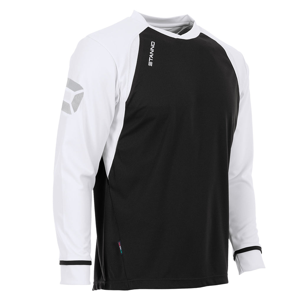 Stanno Liga LS Football Shirt (Black/White)