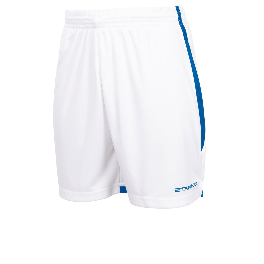 Stanno Focus Football Shorts (White/Royal)
