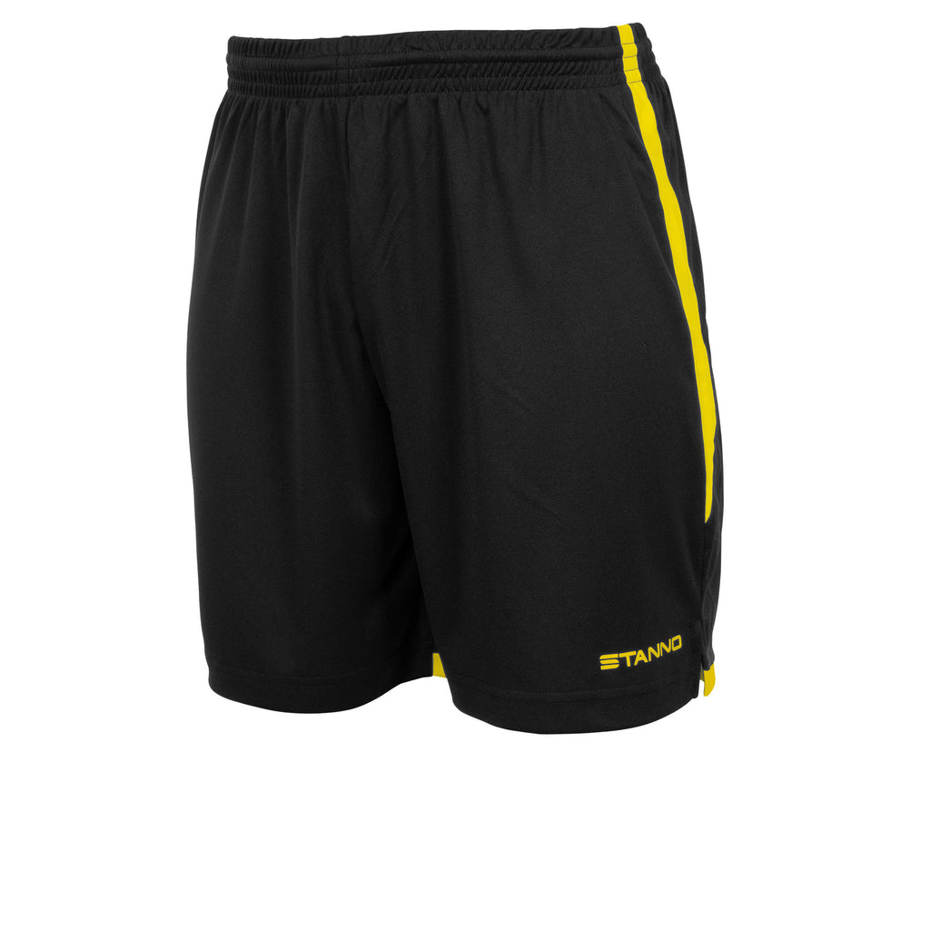 Stanno Focus Football Shorts (Black/Yellow)