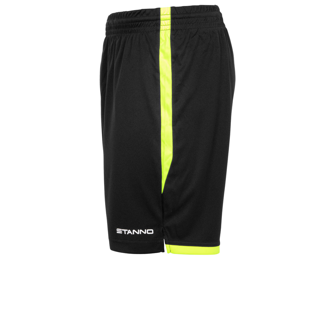 Stanno Focus Football Shorts (Black/Neon Yellow)