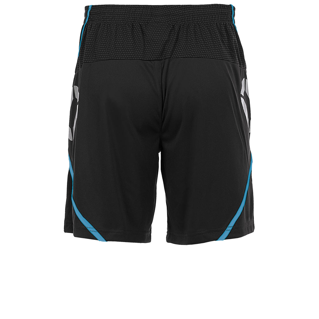 Stanno Pisa Football Short (Black/Aqua Blue)