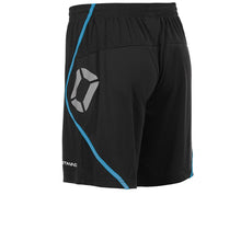Load image into Gallery viewer, Stanno Pisa Football Short (Black/Aqua Blue)