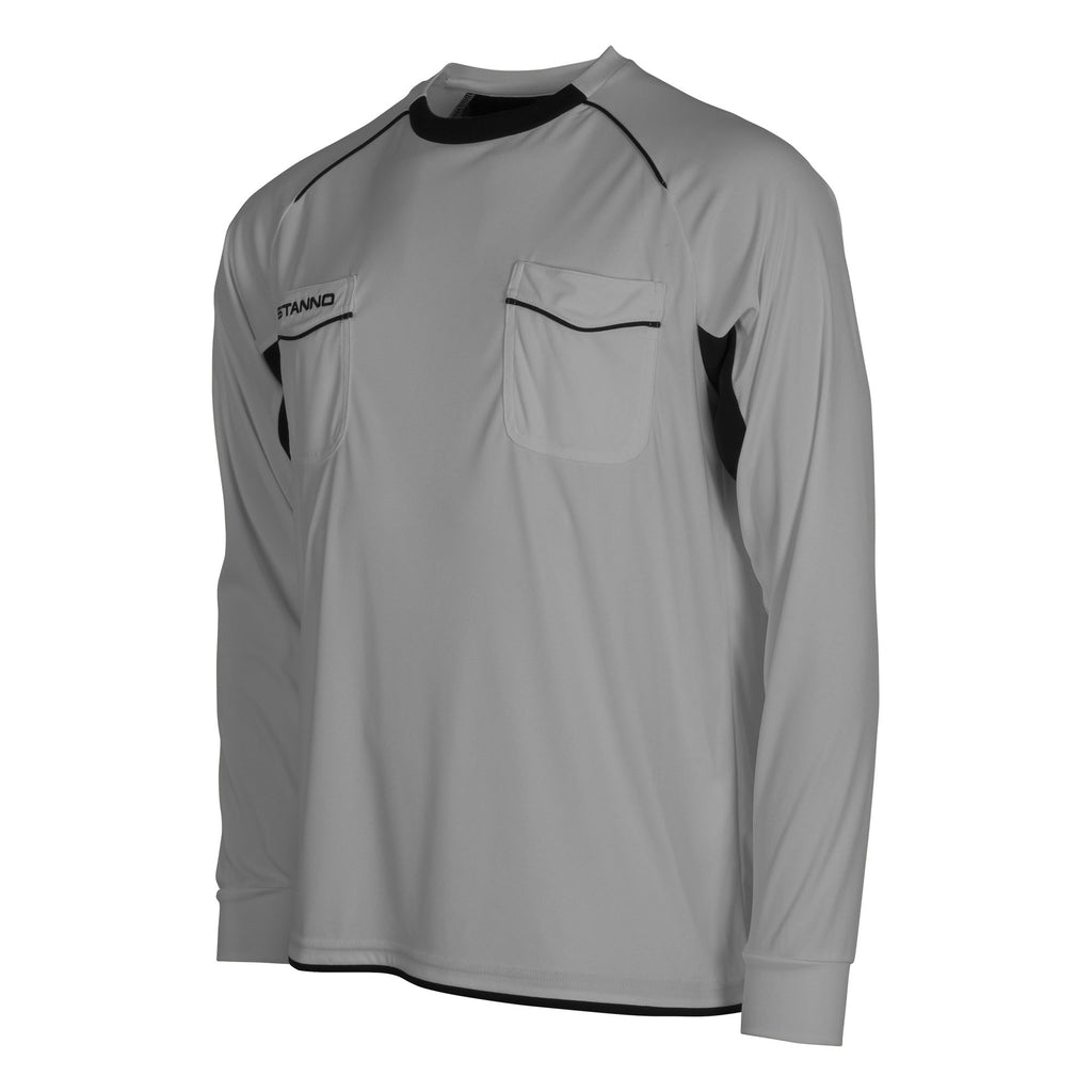 Stanno Bergamo LS Referee Shirt (Grey/Black)