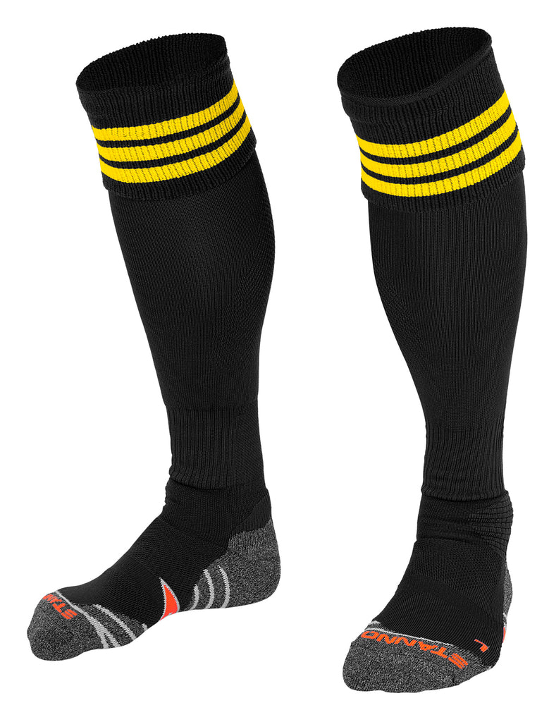 Stanno Ring Football Sock (Black/Yellow)