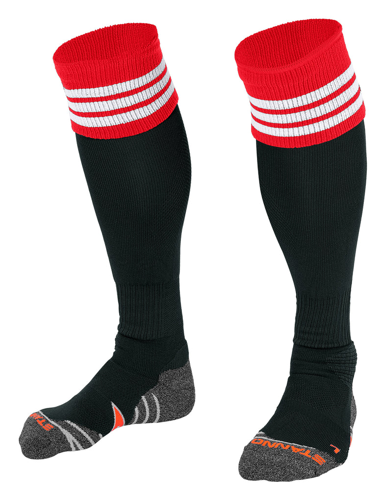 Stanno Ring Football Sock (Black/Red/White)