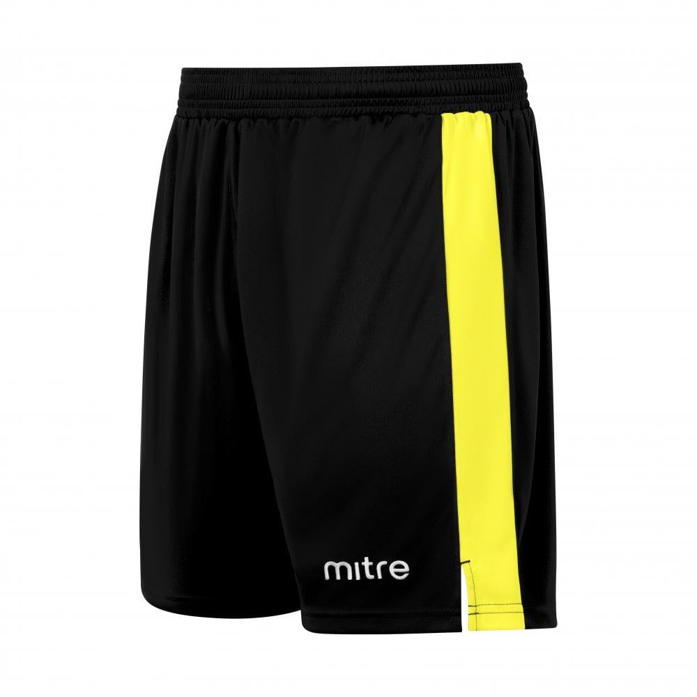 Mitre Amplify Football Shorts (Black/Yellow)