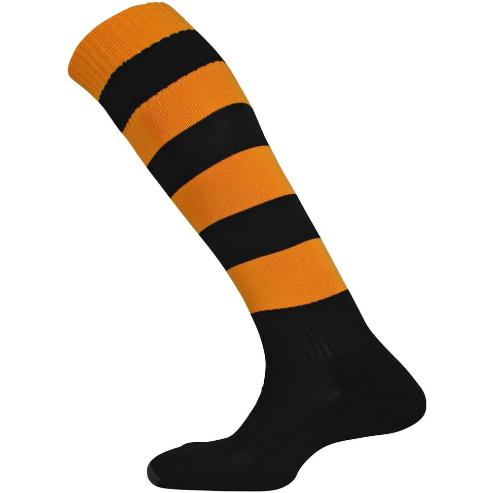 Mitre Mercury Hoop Socks (Black/Amber)