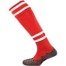 Load image into Gallery viewer, Mitre Division Tec Socks (Scarlet/White/Scarlet)