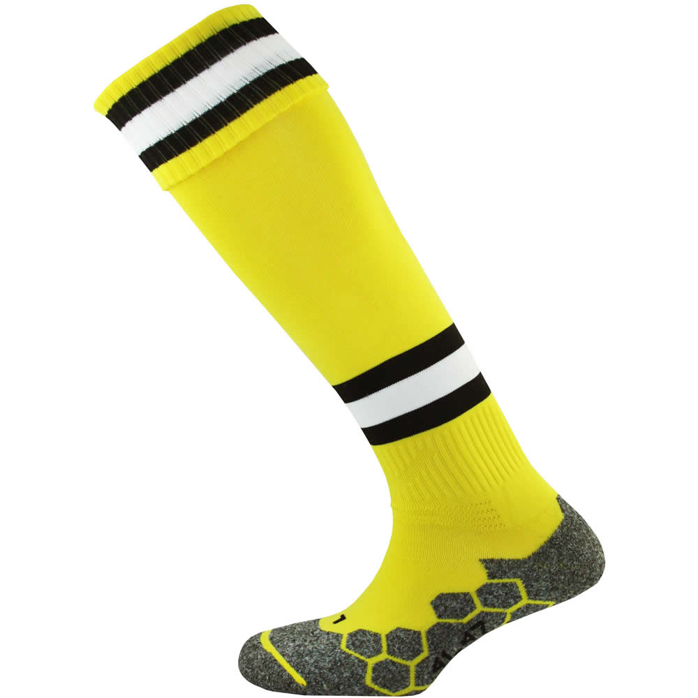 Mitre Division Tec Socks (Yellow/Black/White)