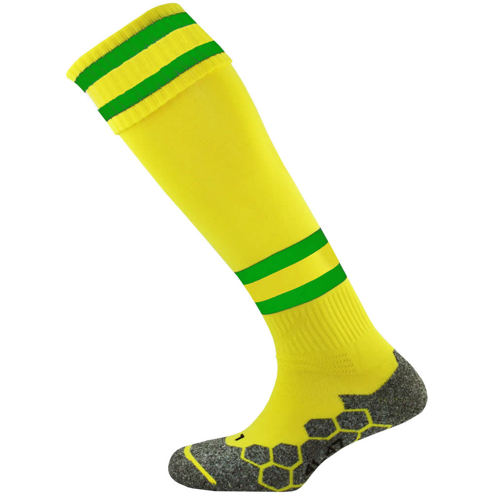 Mitre Division Tec Socks (Yellow/Emerald/Yellow)