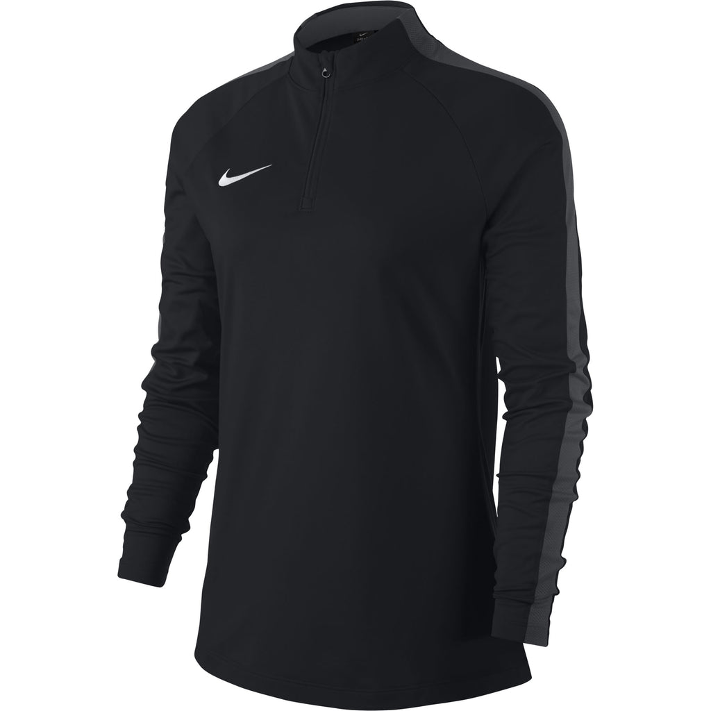 Nike Womens Academy 18 Drill Top (Black/Anthracite)