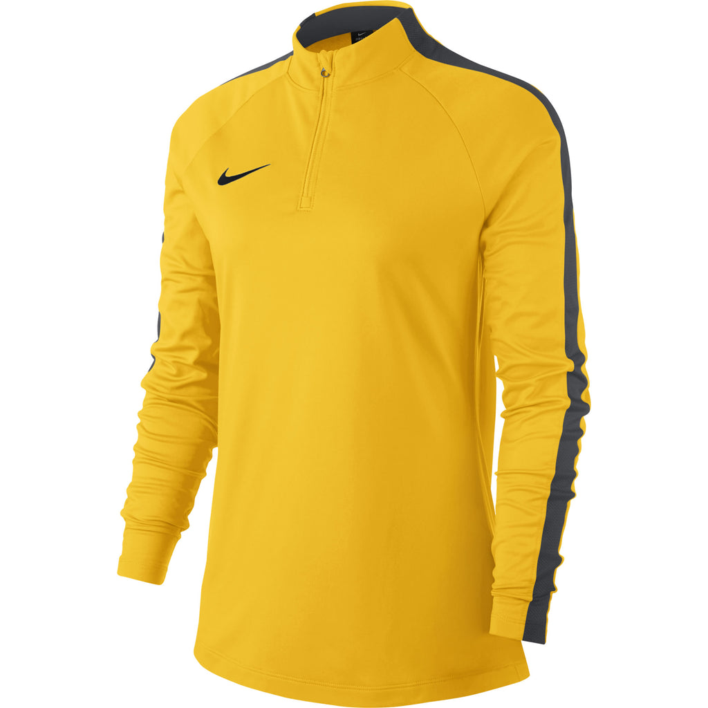 Nike Womens Academy 18 Drill Top (Tour Yellow/Anthracite)