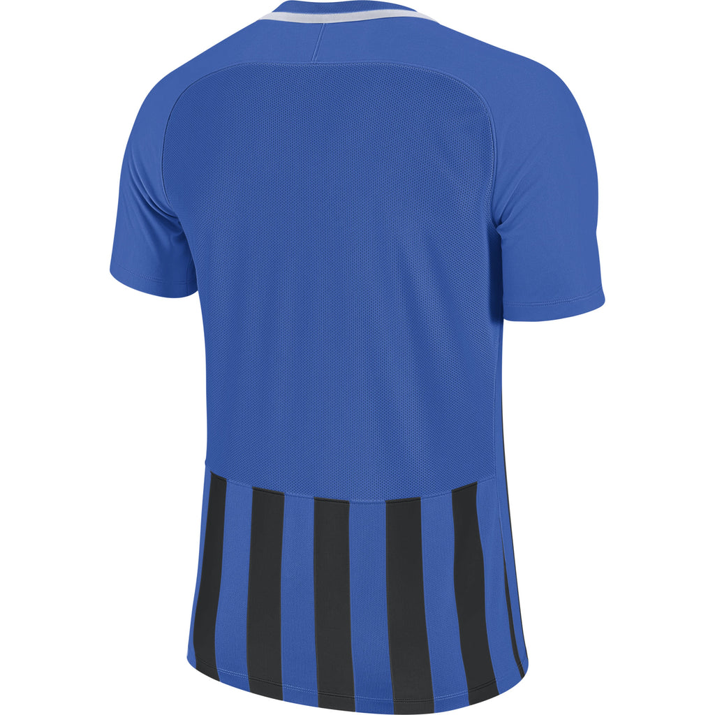 Nike Striped Division III SS Football Shirt (Royal Blue/Black/White)