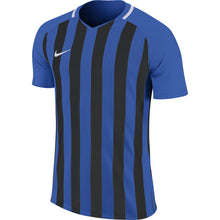 Load image into Gallery viewer, Nike Striped Division III SS Football Shirt (Royal Blue/Black/White)