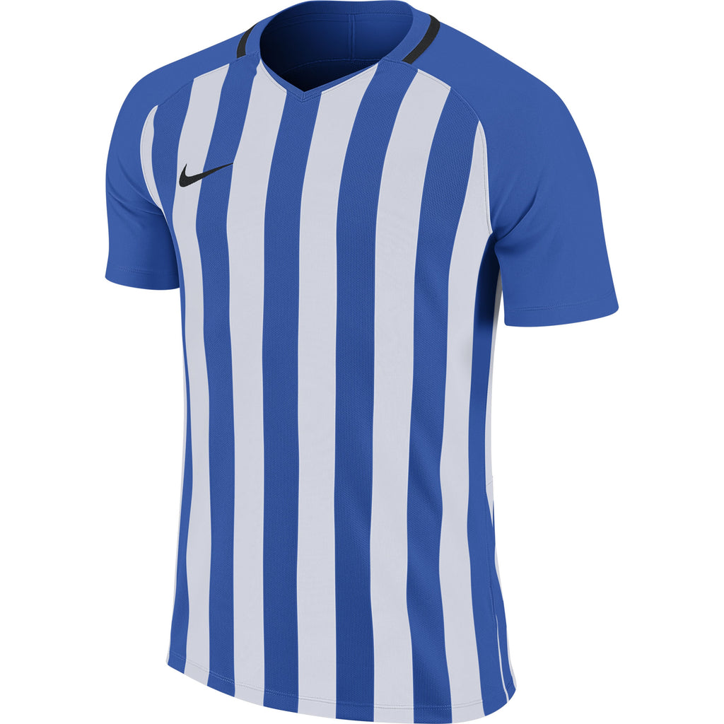 Nike Striped Division III SS Football Shirt (Royal Blue/White/Black)