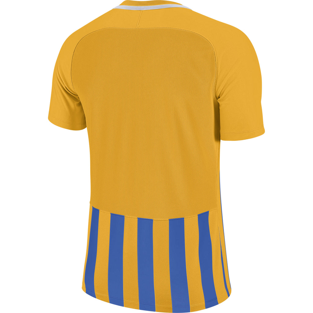 Nike Striped Division III SS Football Shirt (University Gold/Royal Blue/White)
