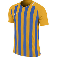Load image into Gallery viewer, Nike Striped Division III SS Football Shirt (University Gold/Royal Blue/White)