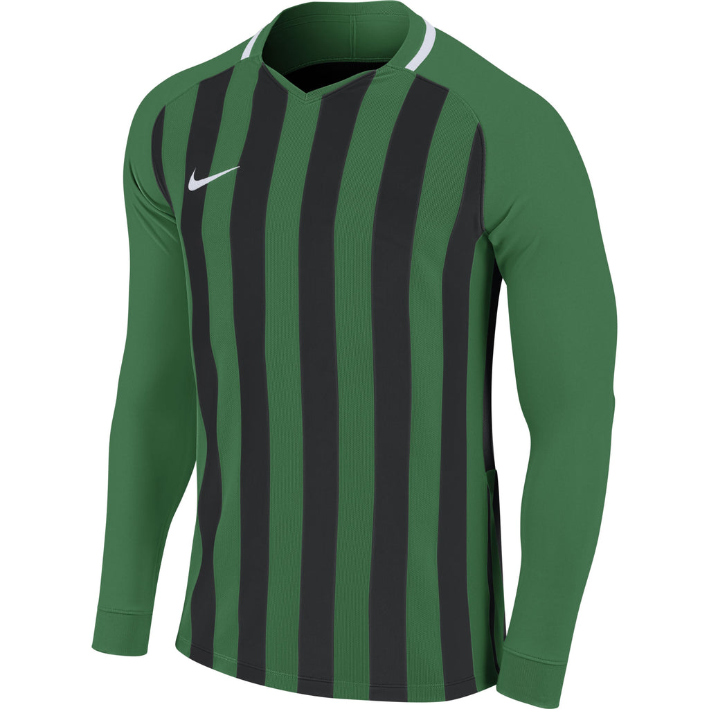 Nike Striped Division III LS Football Shirt (Pine Green/Black/White)