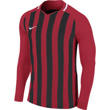 Load image into Gallery viewer, Nike Striped Division III LS Football Shirt (University Red/Black/White)