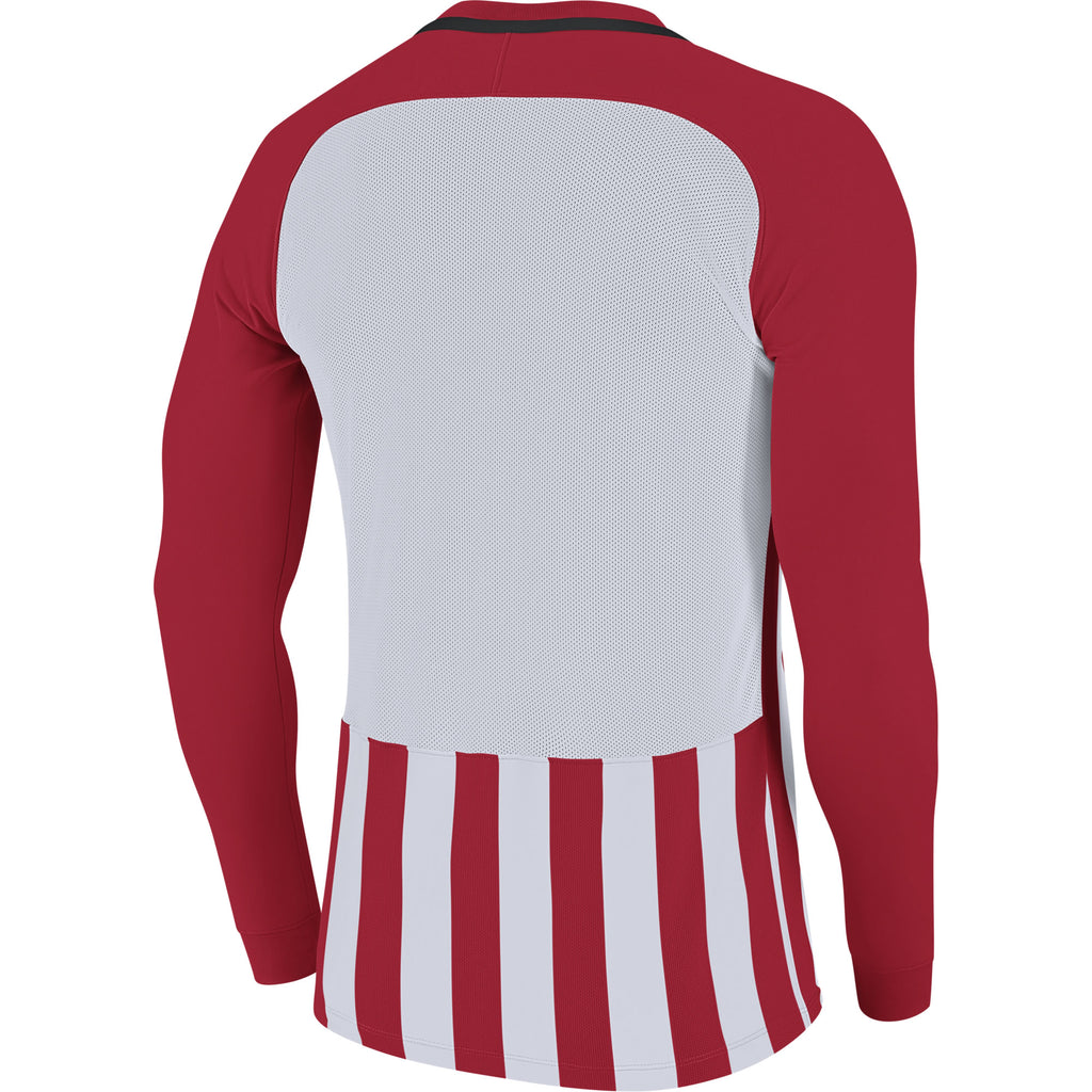Nike Striped Division III LS Football Shirt (University Red/White/Black)