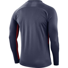 Load image into Gallery viewer, Nike Tiempo Premier LS Football Shirt (Midnight Navy/Midnight Navy/University Red)