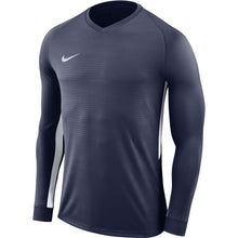 Load image into Gallery viewer, Nike Tiempo Premier LS Football Shirt (Midnight Navy/Midnight Navy/White)
