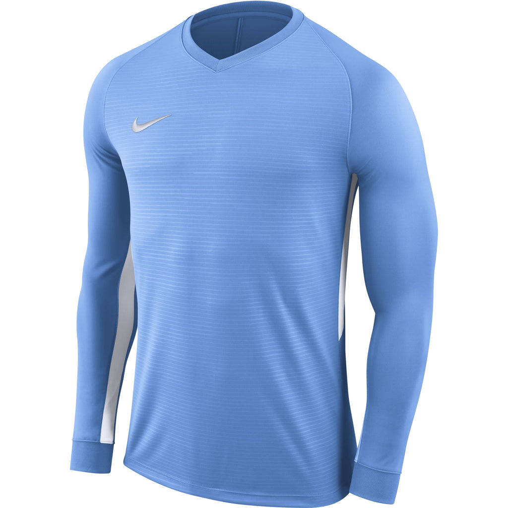 Nike Tiempo Premier LS Football Shirt (University Blue/University Blue/White)