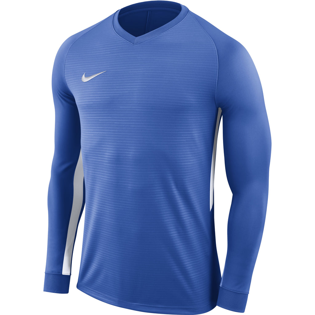Nike Tiempo Premier LS Football Shirt (Royal Blue/Royal Blue/White)