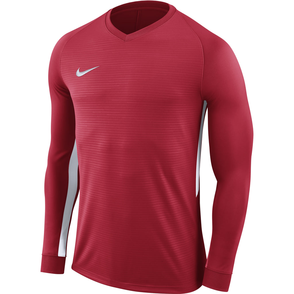 Nike Tiempo Premier LS Football Shirt (University Red/University Red/White)