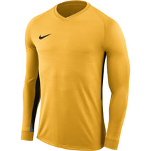 Load image into Gallery viewer, Nike Tiempo Premier LS Football Shirt (University Gold/University Gold/Black)