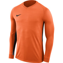 Load image into Gallery viewer, Nike Tiempo Premier LS Football Shirt (Safety Orange/Safety Orange/Black)